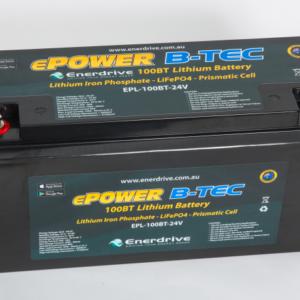 ePOWER B-TEC 100Ah Lithium Batteries 24v